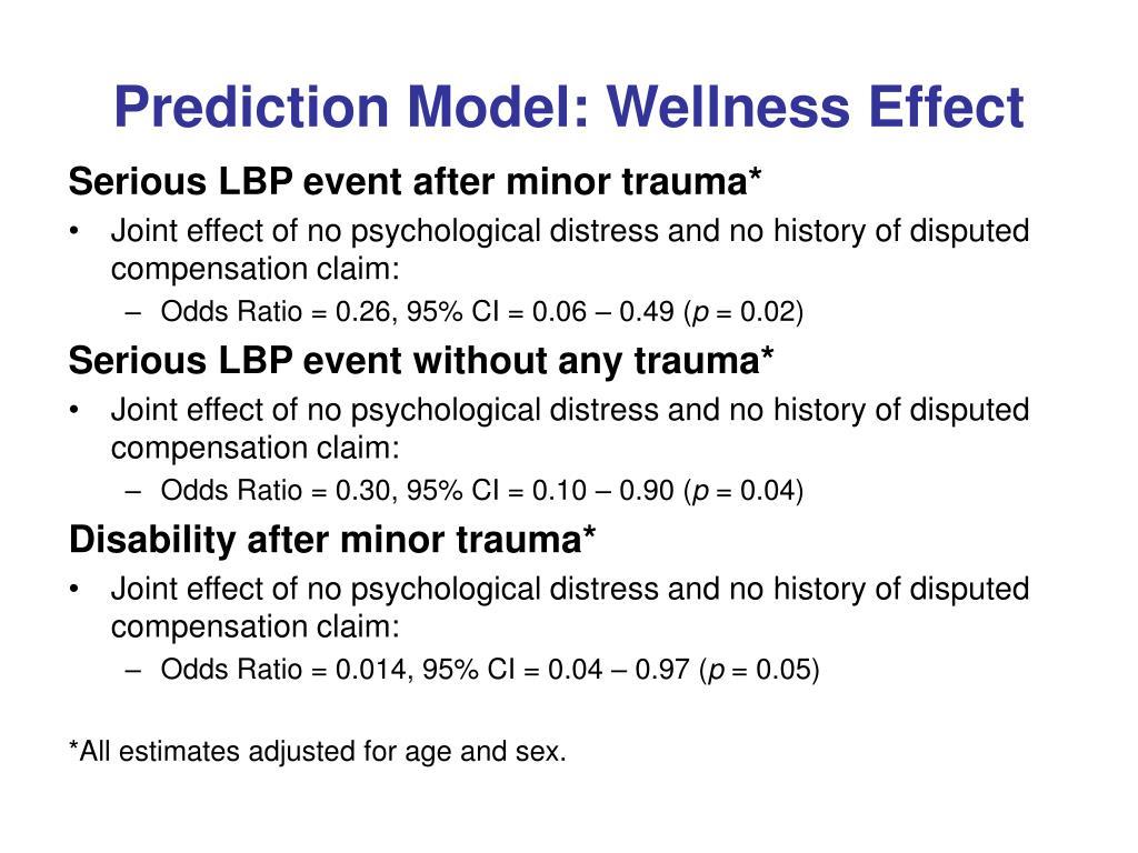 Prediction Model: Wellness Effect