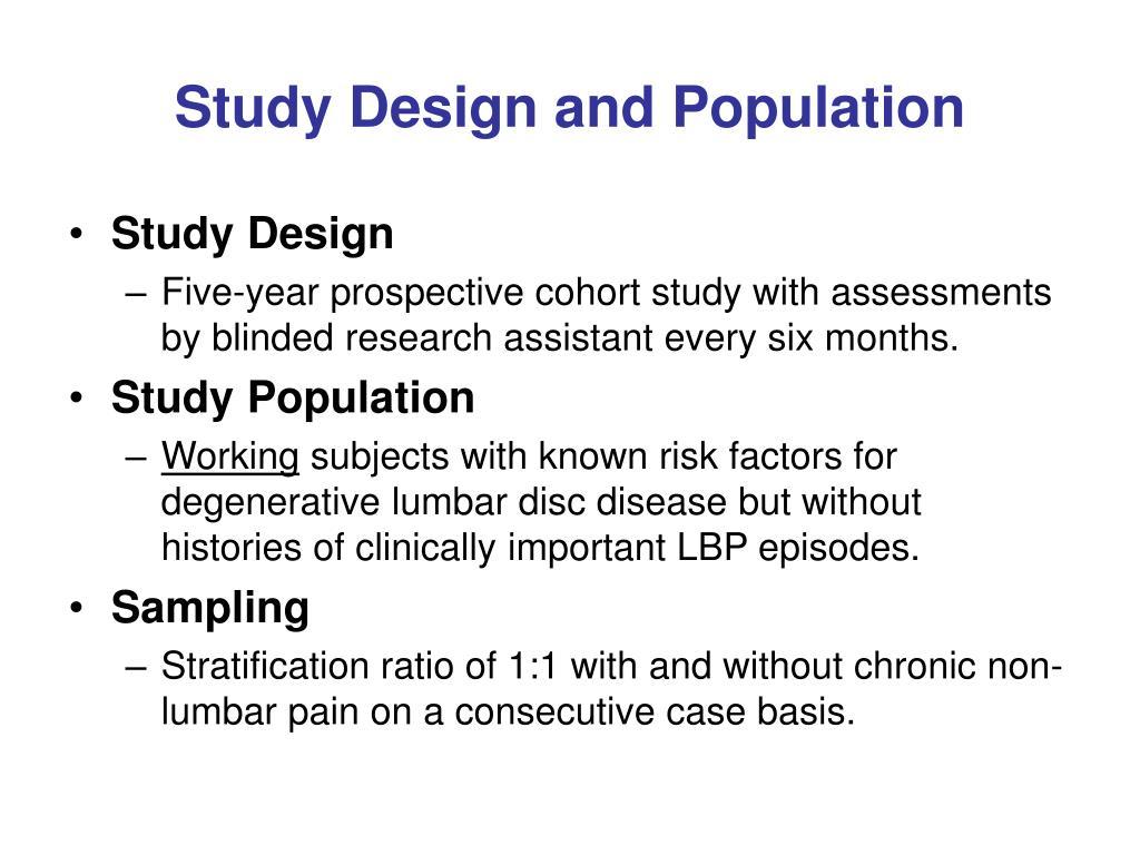 Study Design and Population