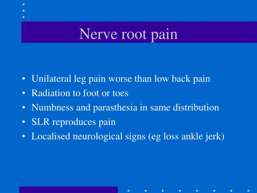 Nerve root pain