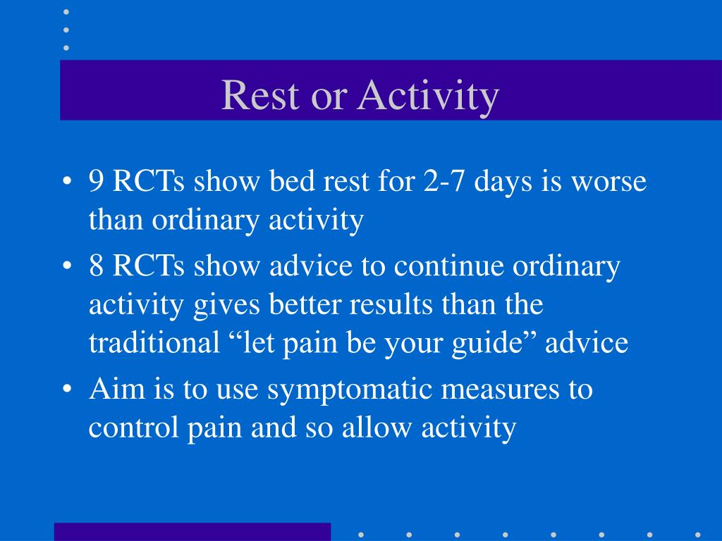 Rest or Activity