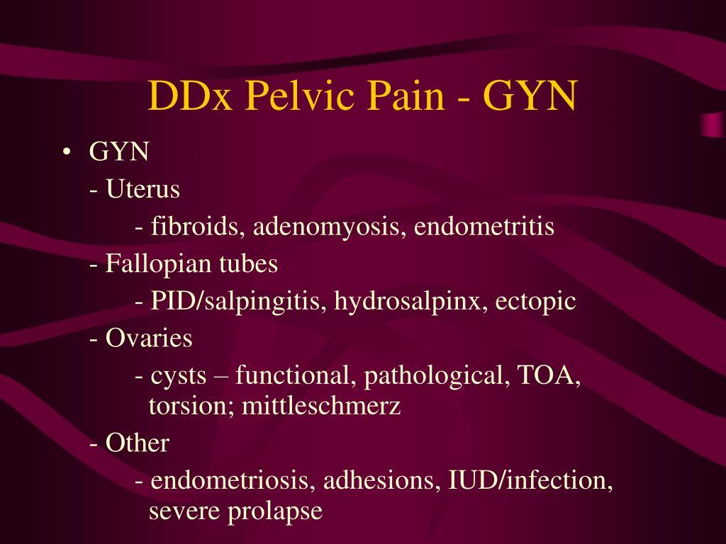 DDx Pelvic Pain - GYN