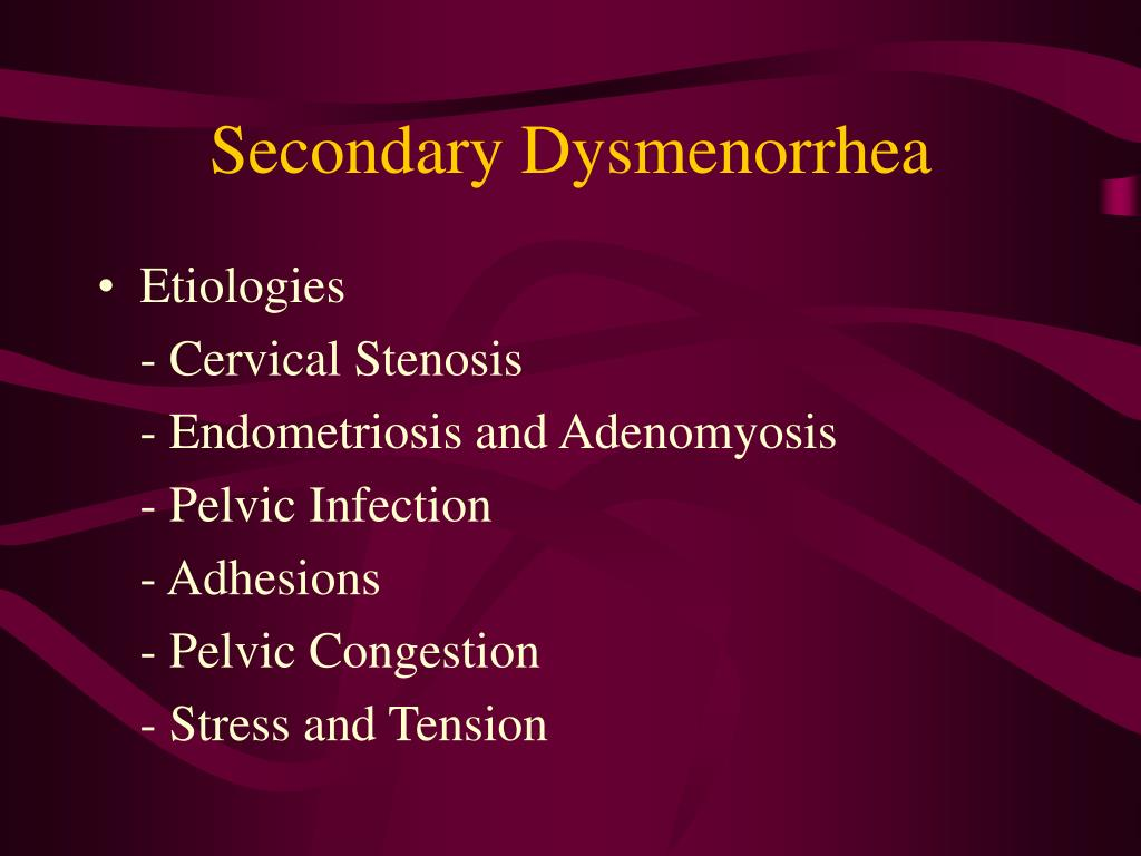 Secondary Dysmenorrhea