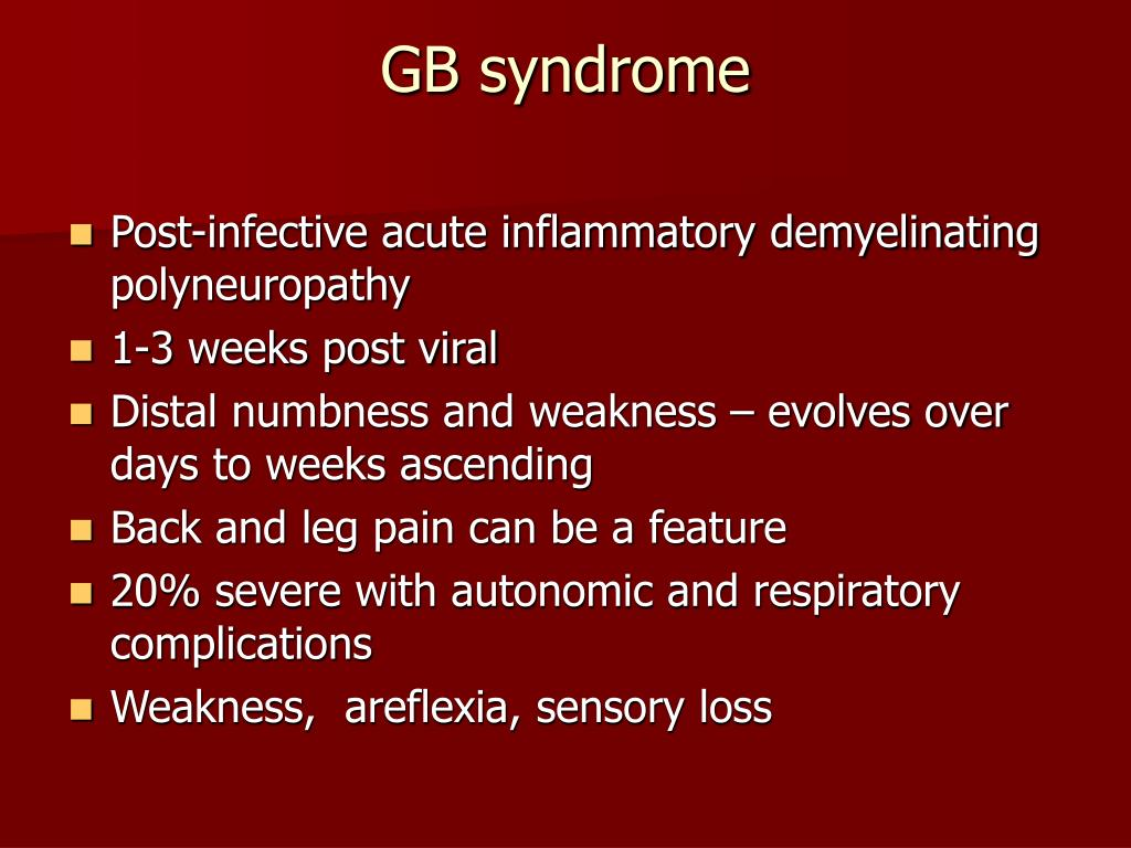 GB syndrome