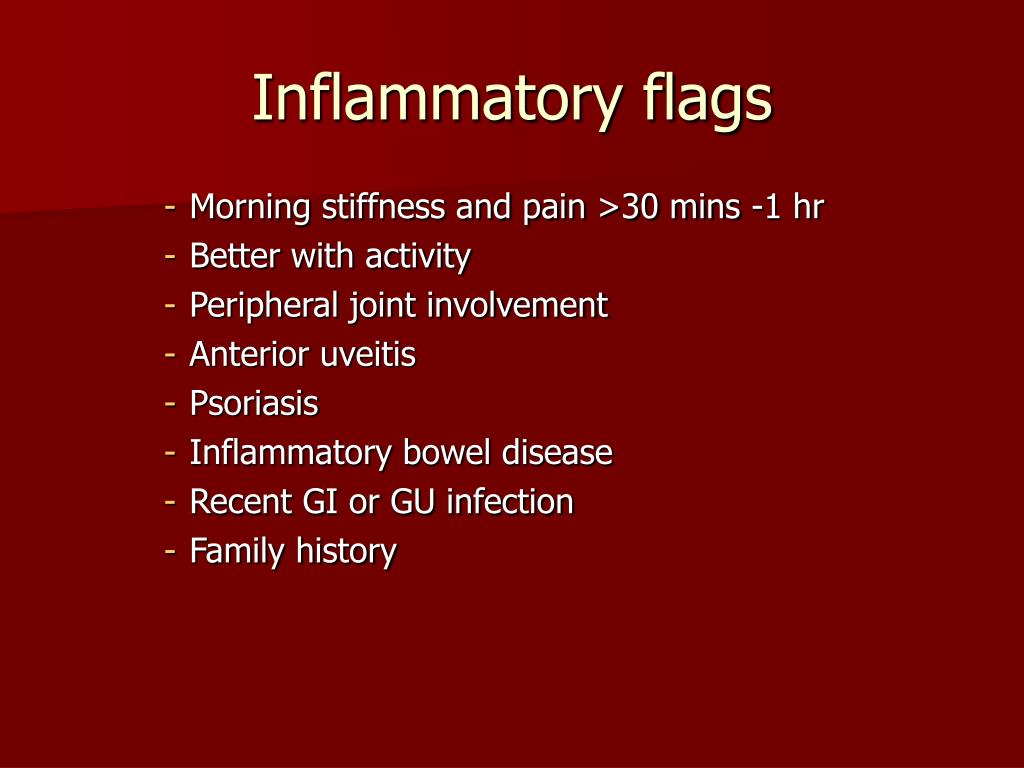 Inflammatory flags
