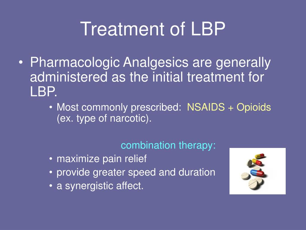 Treatment of LBP