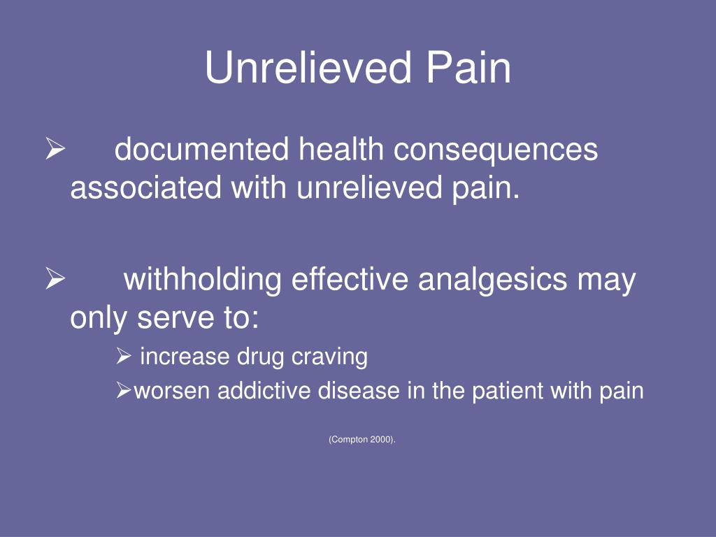 Unrelieved Pain