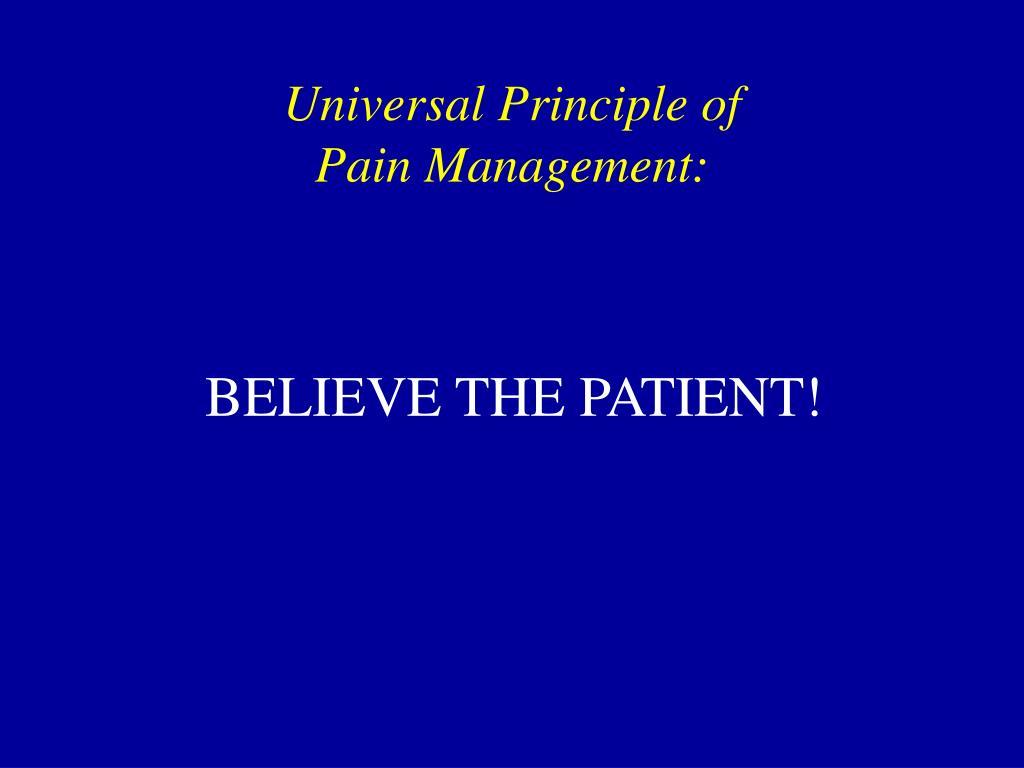Universal Principle of