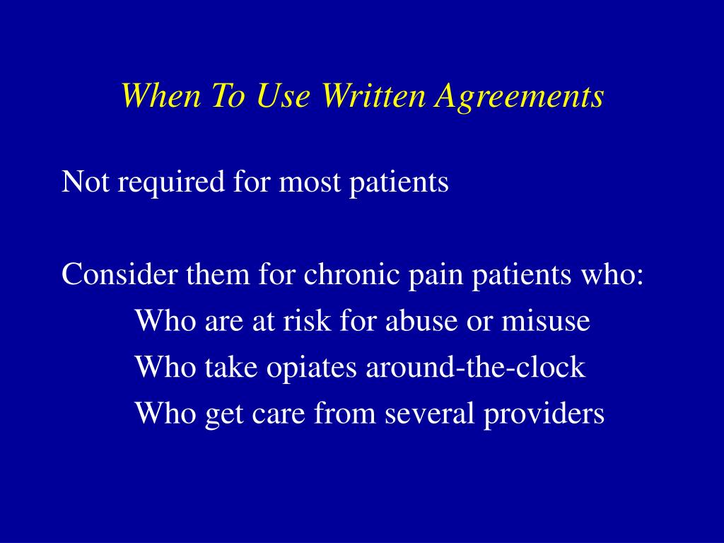 When To Use Written Agreements