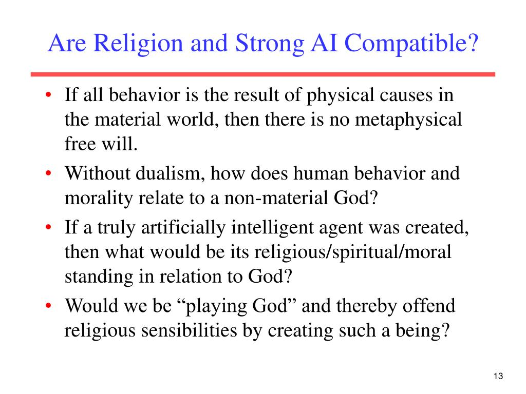 Are Religion and Strong AI Compatible?