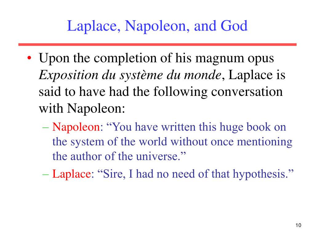 Laplace, Napoleon, and God