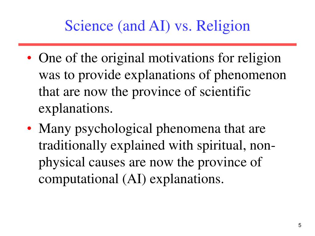 Science (and AI) vs. Religion