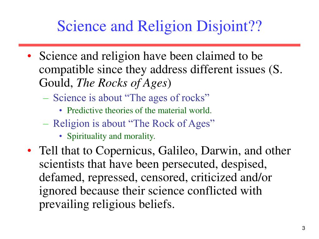 Science and Religion Disjoint??