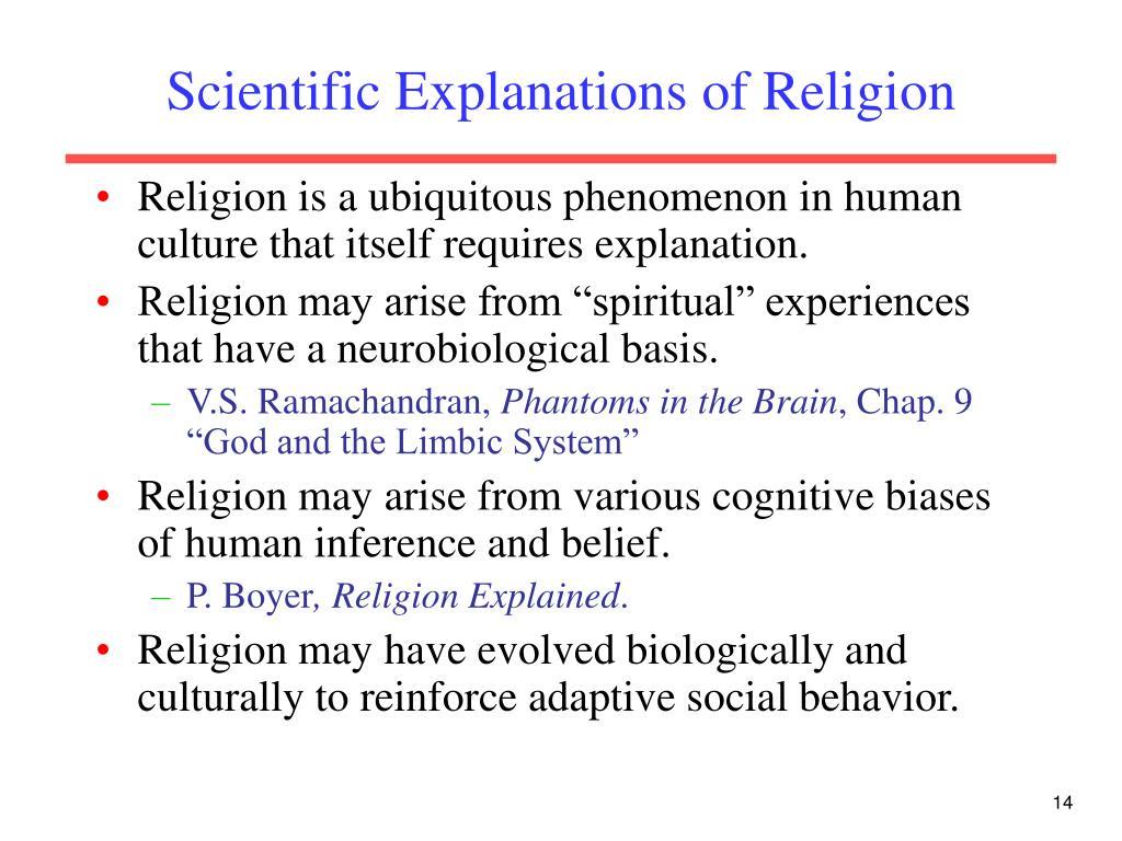 Scientific Explanations of Religion