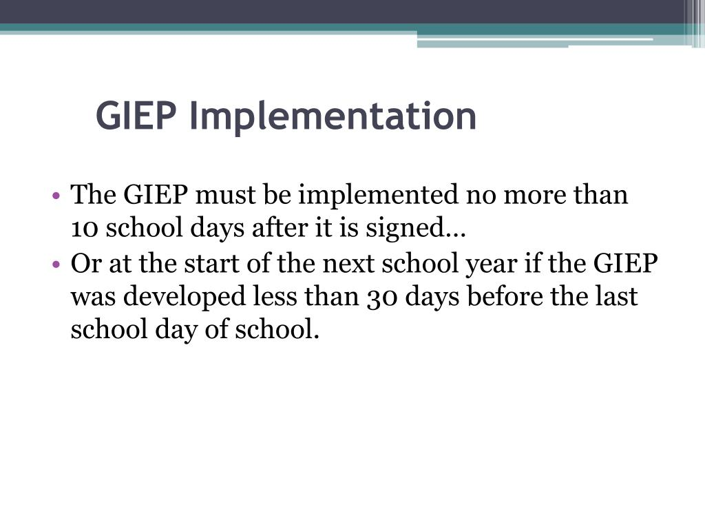 GIEP Implementation