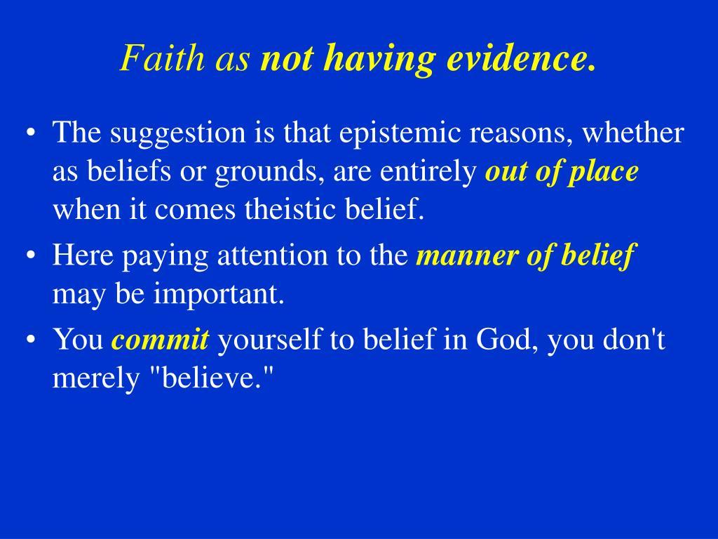 Faith as