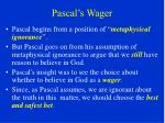 pascal s wager