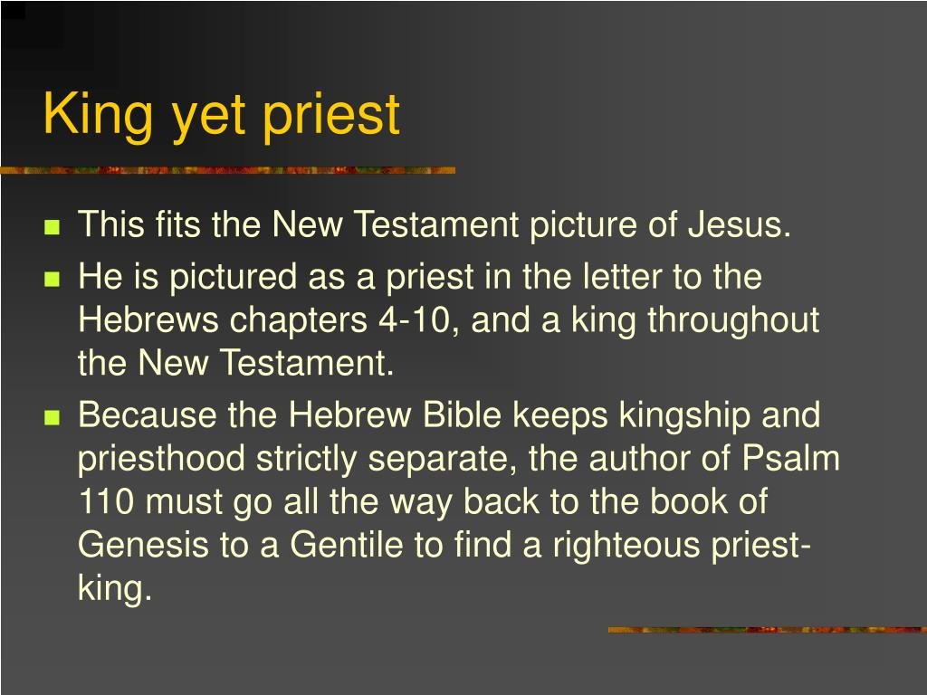 King yet priest