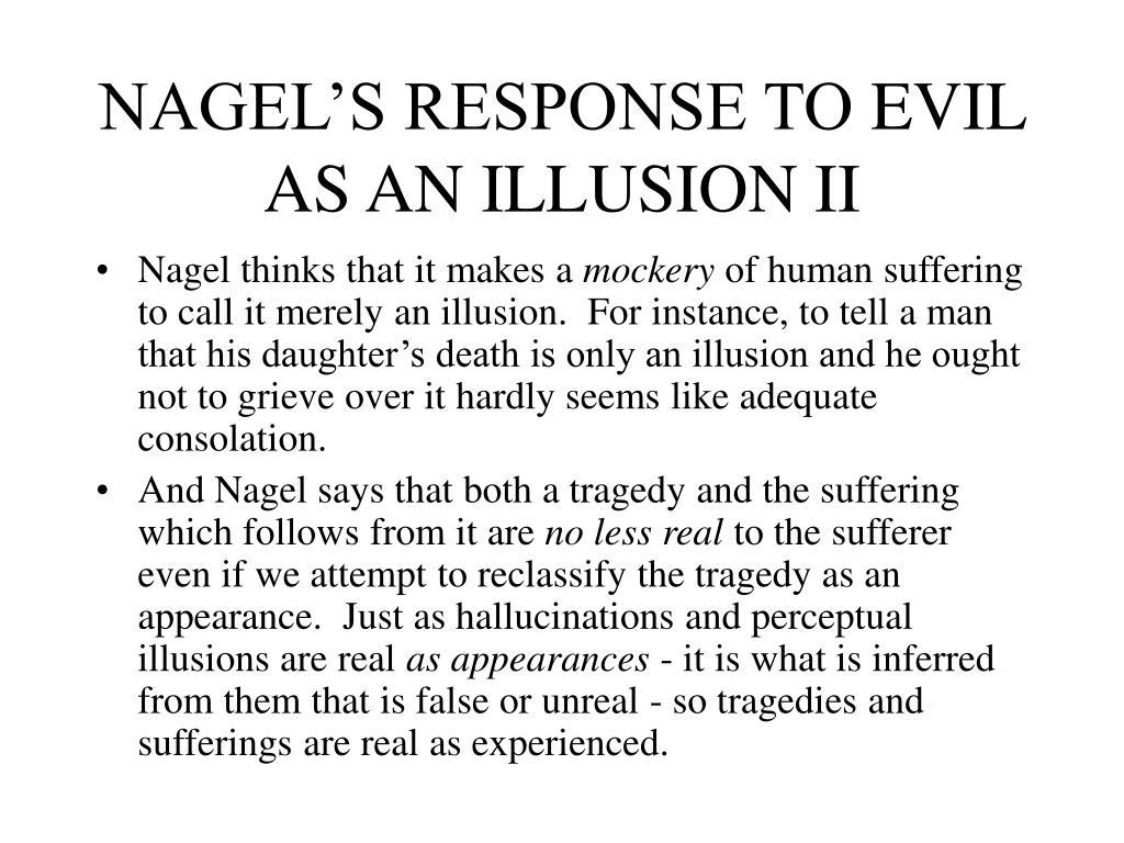 NAGEL'S RESPONSE TO