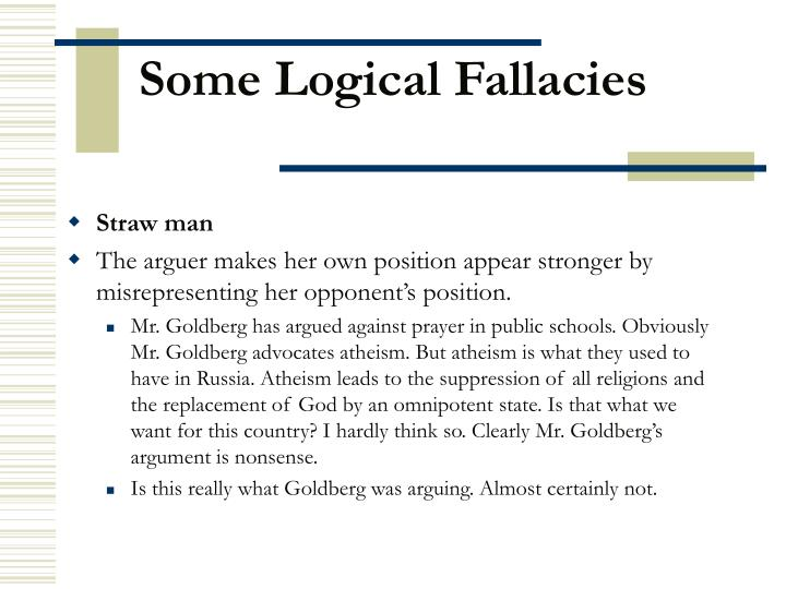 Some logical fallacies3