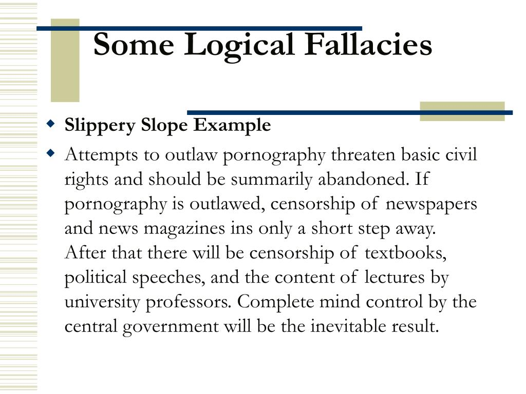 Some Logical Fallacies