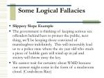 some logical fallacies6