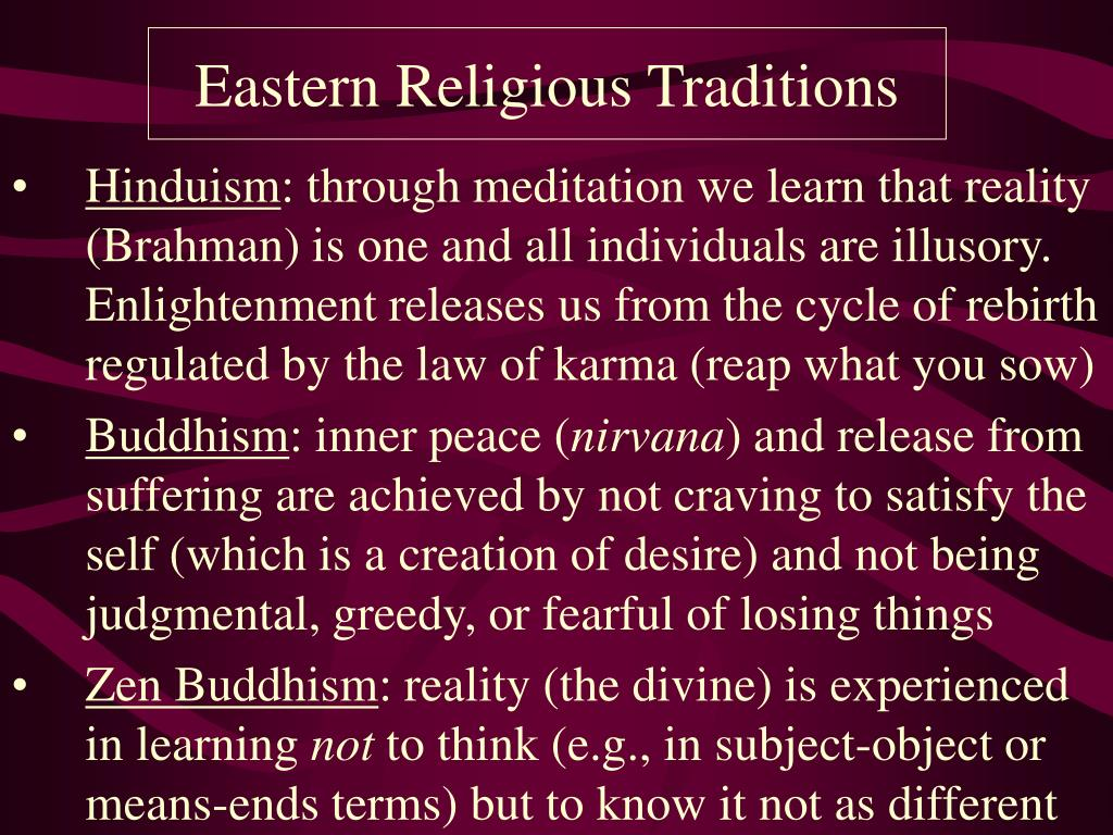 Eastern Religious Traditions