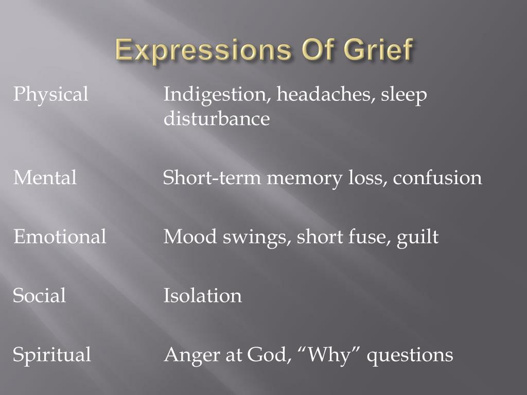 Expressions Of Grief