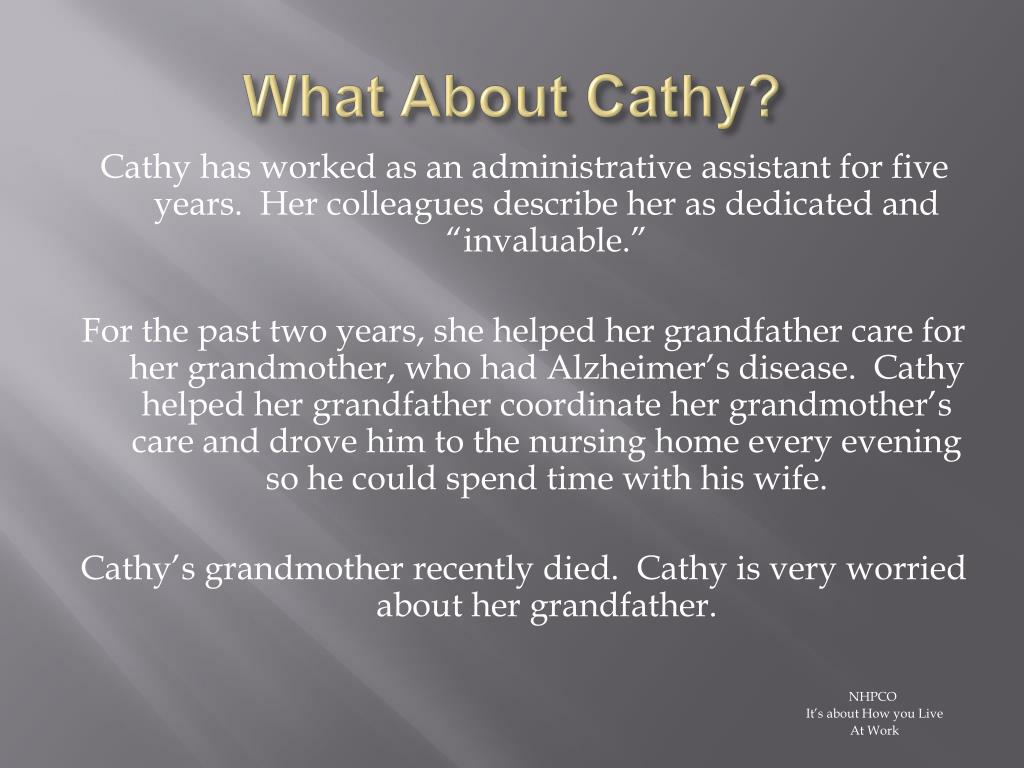 What About Cathy?