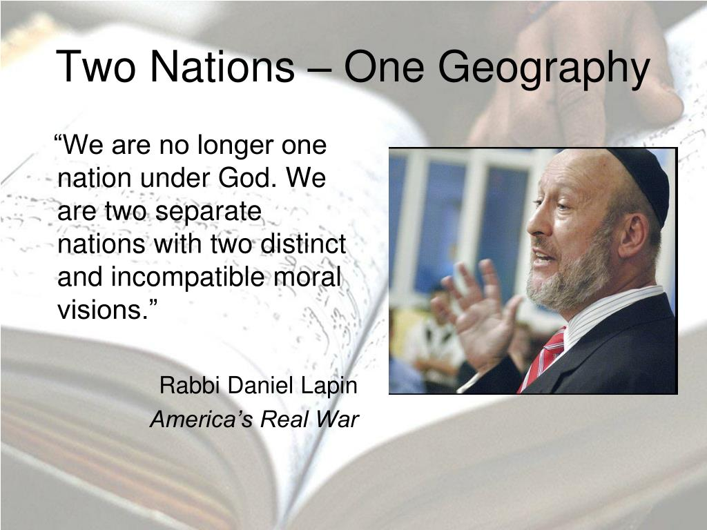 Two Nations – One Geography