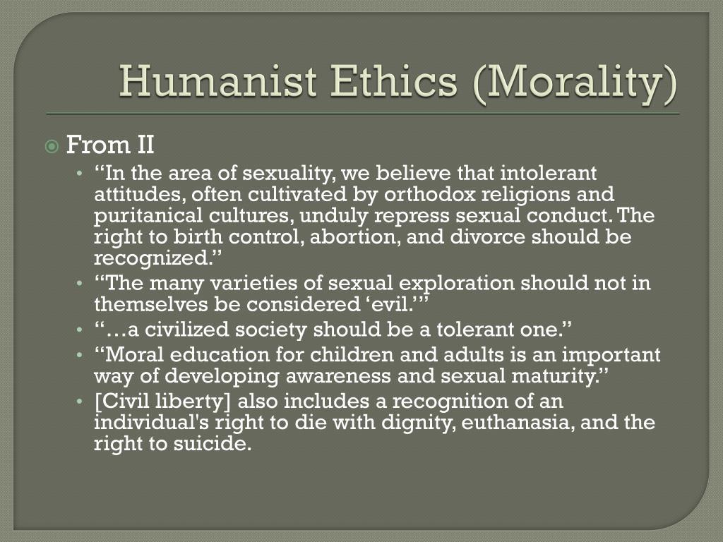 Humanist Ethics (Morality)