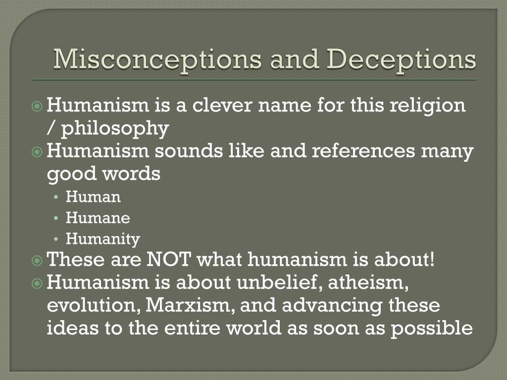 Misconceptions and Deceptions