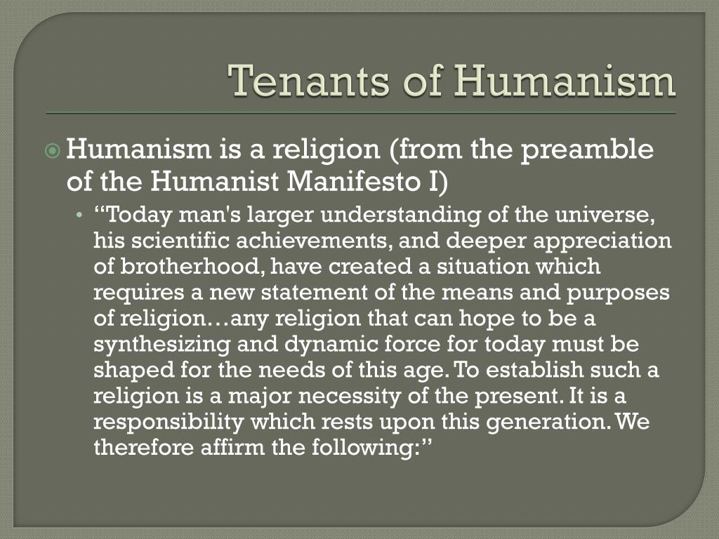 Tenants of Humanism