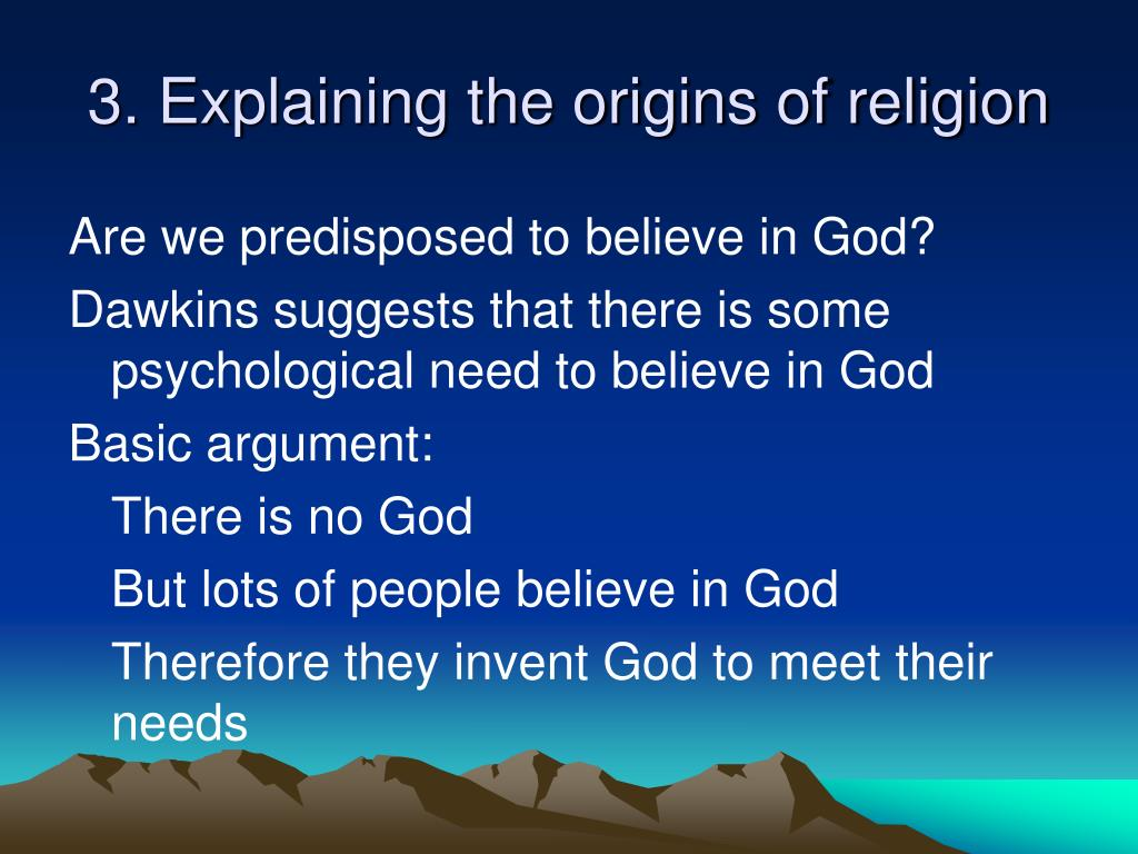 3. Explaining the origins of religion