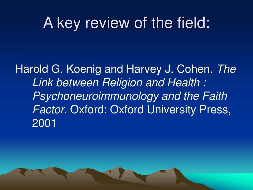 A key review of the field: