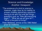 science and knowledge another viewpoint