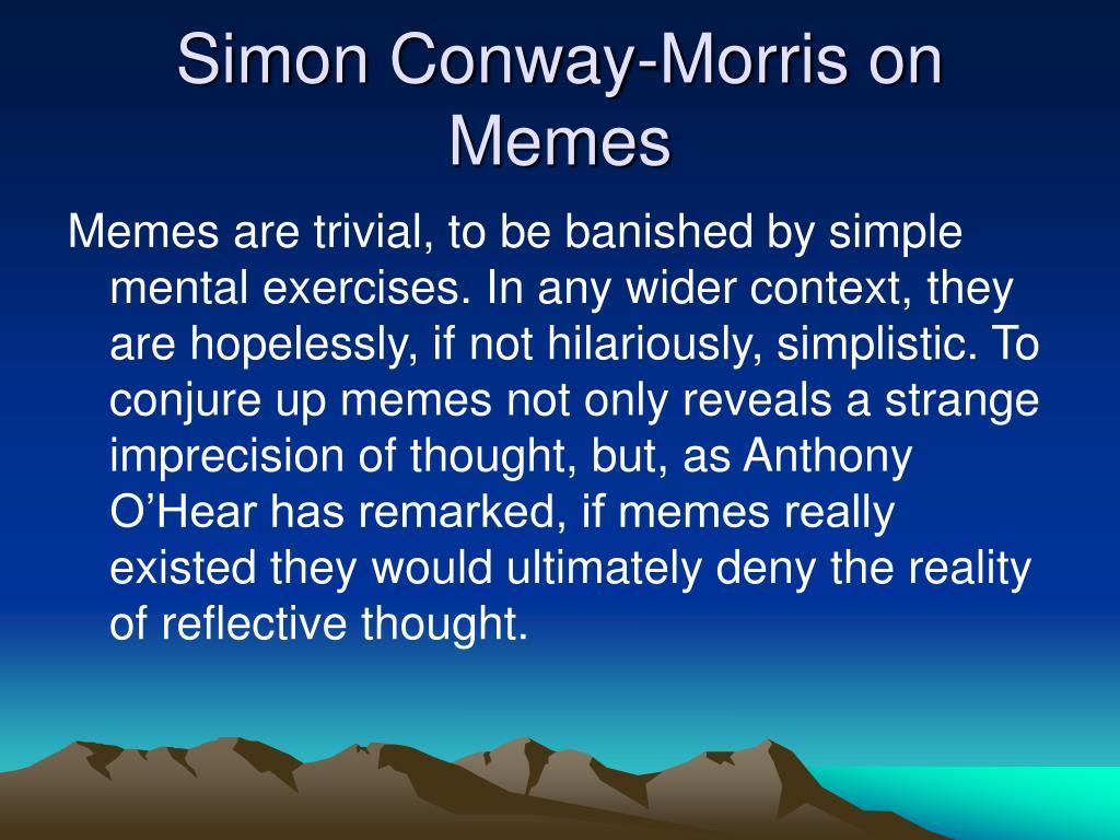 Simon Conway-Morris on Memes