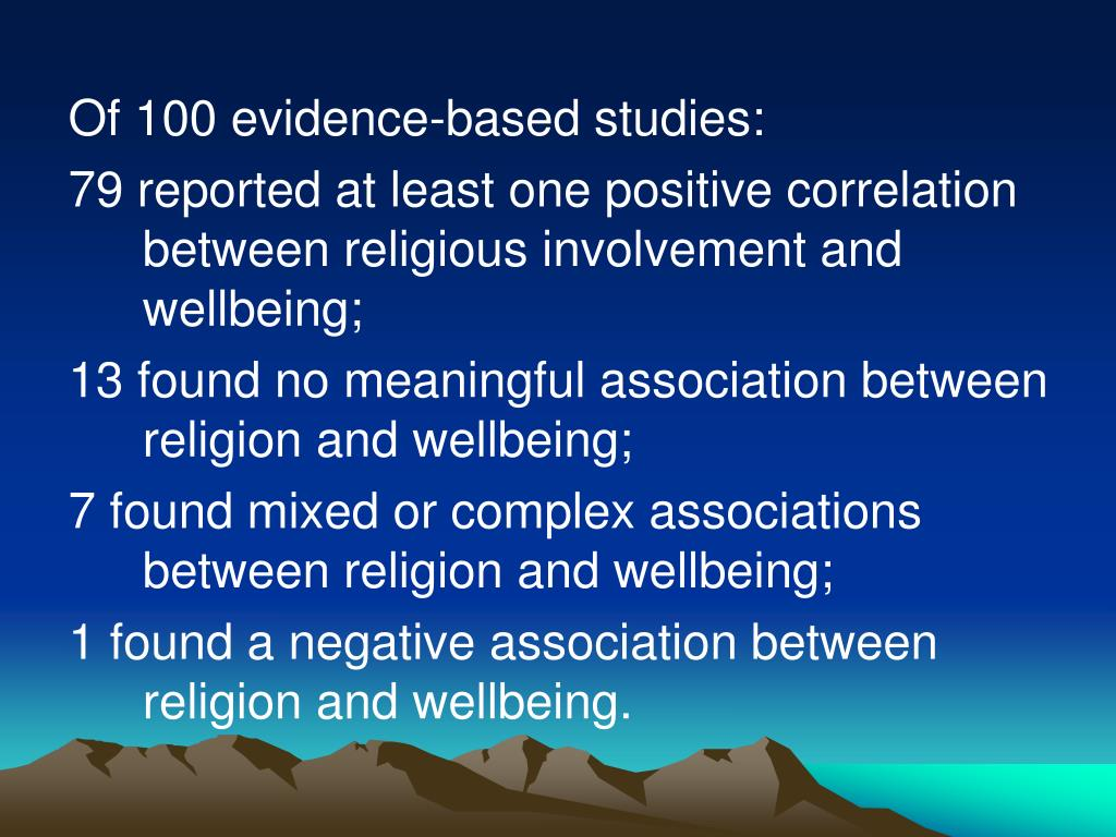 Of 100 evidence-based studies: