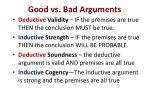 good vs bad arguments