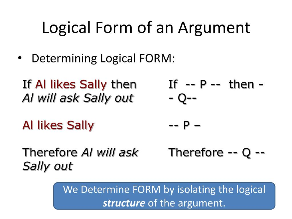 Logical Form of an Argument