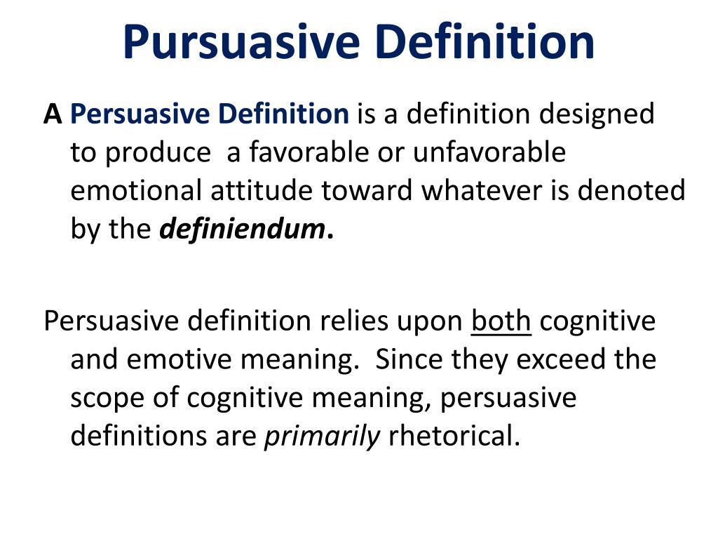 Pursuasive Definition