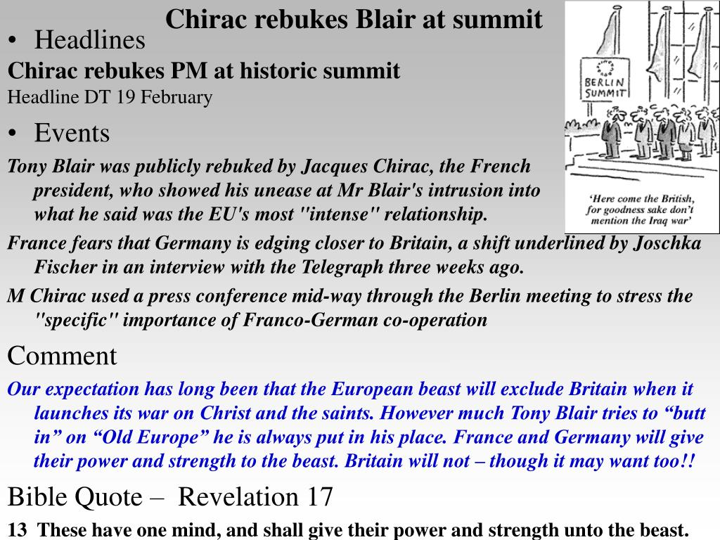 Chirac rebukes Blair at summit