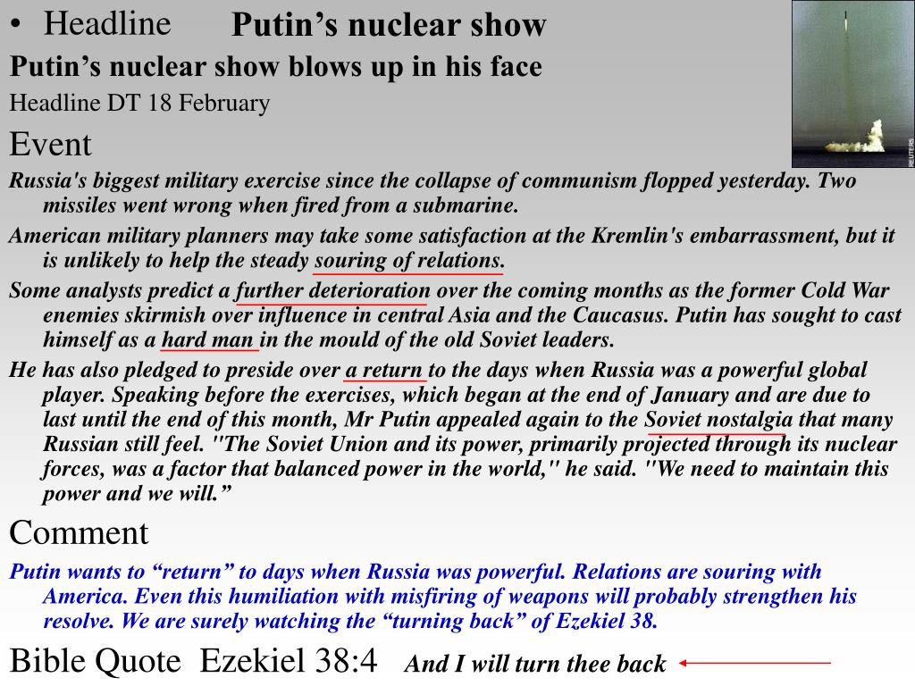 Putin's nuclear show