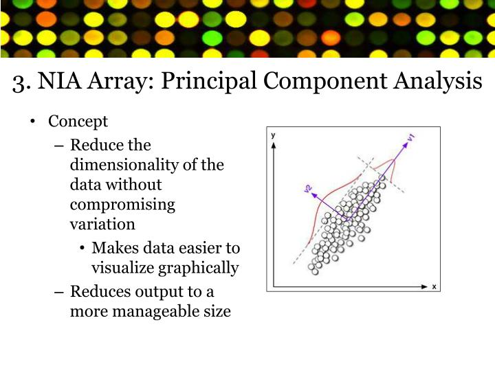 3. NIA Array: Principal Component Analysis