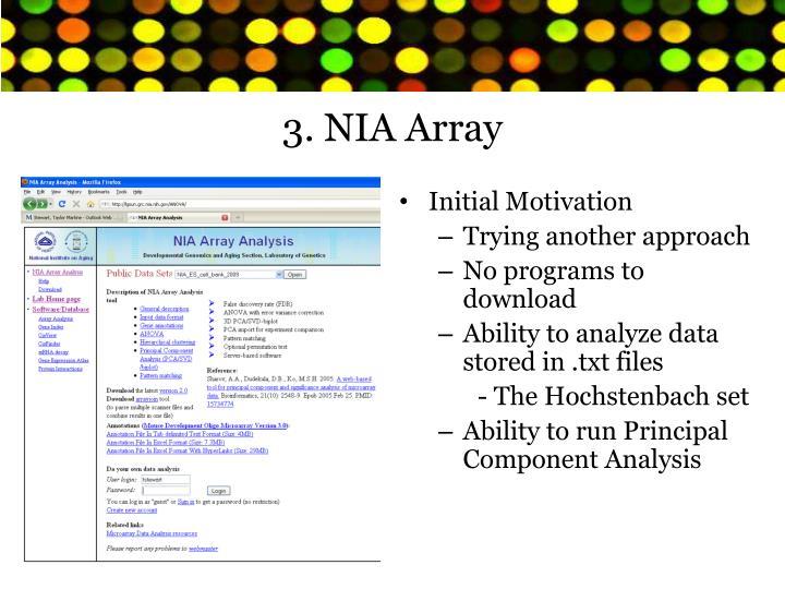 3. NIA Array