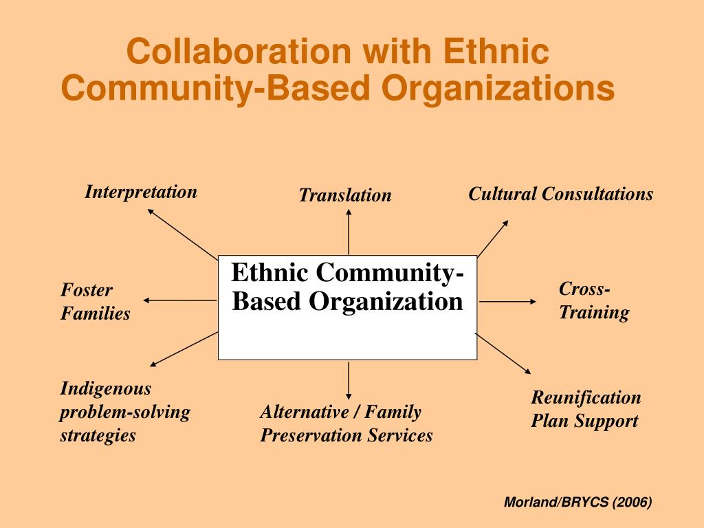 Collaboration with Ethnic Community-Based Organizations
