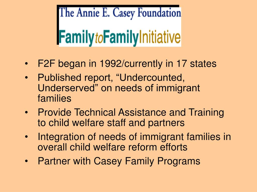 F2F began in 1992/currently in 17 states
