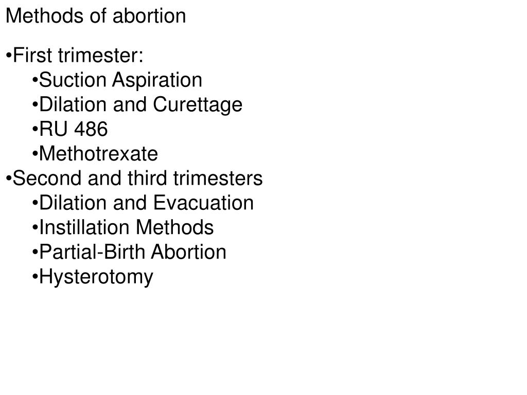 Methods of abortion