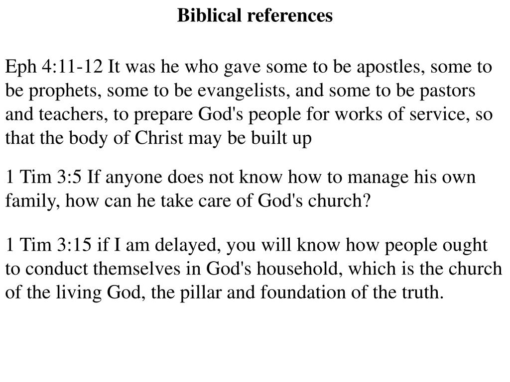 Biblical references