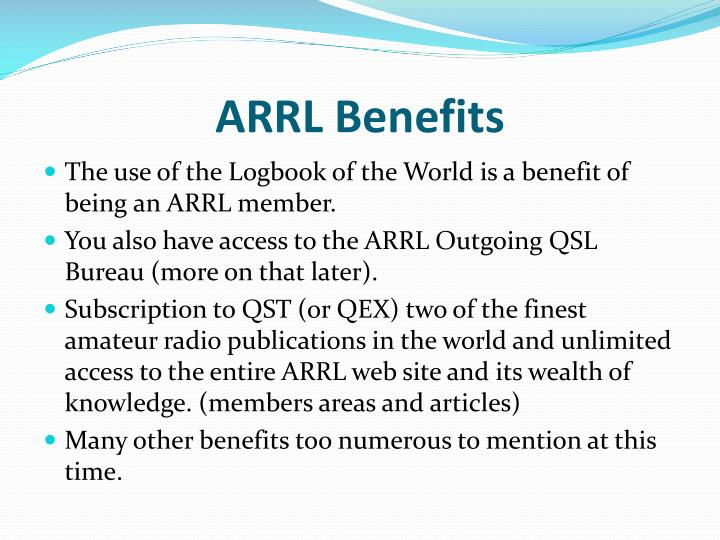 ARRL Benefits