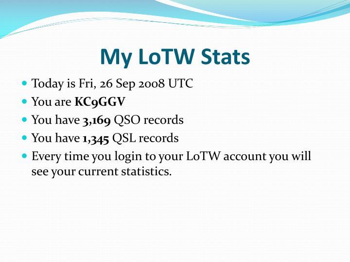 My LoTW Stats